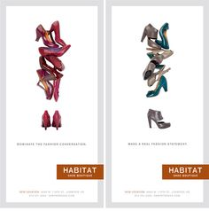 Habitat Shoe Boutique on Behance