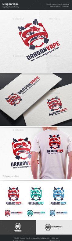 Dragon Vape Logo by WheelieMonkey Files format : EPS 10, EPS CS, EPS CS4, EPS CS6, AI CS4 Color mode : CMYK Resolution : 300PPI Resizable Free used font links