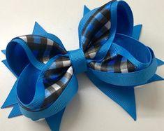 laco-boutique-com-spike-xadrez-e-azul-turquesa-lacos-de-cabelos