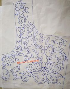 Simple Hand Embroidery Designs, Peacock Embroidery Designs, Hand Embroidery Patterns Flowers, Border Embroidery Designs, Quilting Designs, Best Embroidery Machine, Machine Embroidery Designs, Work Blouse, Blouse Designs