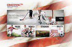 Cracovia Kraków website on Behance