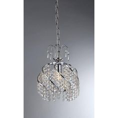 Warehouse of Tiffany Catherine 1-Light Chrome Crystal Chandelier-RL1007 at The Home Depot