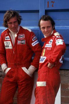 James Hunt & Niki Lauda- 2 mari eroi