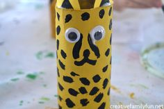 Use recycled materials to make this cardboard tube cheetah craft. It's such a fun kids craft and it makes a fun toy when you're done.
