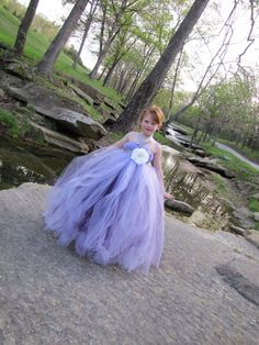Girls flower girl tulle dress
