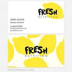 fresh nutrition business card