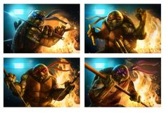 You can purchase these prints here: https://www.etsy.com/listing/223193624/ninja-turtles-set-of-4-prints?ref=shop_home_active_21  Ninja Turtles Set of 4 Prints by PinkHavok on Etsy