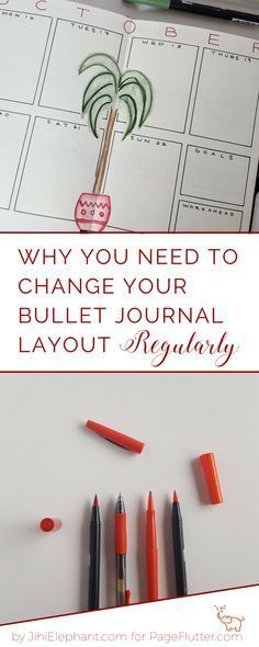 Bullet Journal layout. Don't get in a rut with your Bullet Journal layout. Planning routines can actually be more productive with change.