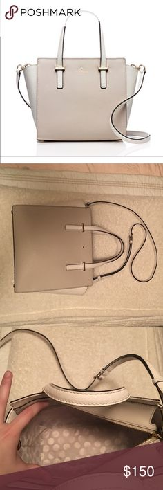 KATE SPADE SMALL HAYDEN LIKE NEW Beautiful bag! Small denim mark on ivory handle as pictured (it's so small you can barely see it, just didn't want to miss anything!) this bag will hold anything you could need and is super lightweight! kate spade Bags