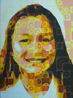 The Calvert Canvas: Adventures in Middle School Art!: Chuck Close Inspired Self Portraits Chuck Close Paintings, Chuck Close Portraits, Middle School Art Projects, High School Art, Selfies, 7th Grade Art, School Portraits, Collor, Identity Art