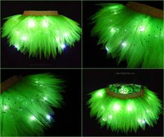 Light Up Tinkerbell Tutu Cosplay Fancy Dress Fairy por tutufactory