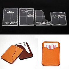 NW Card Holder Acrylic Template Bag Leather Pattern Acrylic Leather Pattern Leather Templates for Card Bag Handbag Patterns, Bag Patterns To Sew, Leather Diy Crafts, Leather Craft, Diy Long Wallet, Sewing Leather, Leather Pattern, Diy Wallet Pattern, Leather Card Wallet
