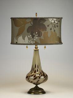 Pearl: Caryn Kinzig, Susan Kinzig: Mixed-Media Table Lamp   Artful Home