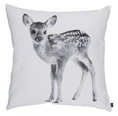 By Nord Coussin scandinave Faon - gris et noir - cm - By Nord - Petite Lily Interiors Wabi Sabi, Deer Pillow, Living Room Cushions, Shops, Animal Magic, Deer Print, Dark Winter, Woodland Theme, Kids Pillows