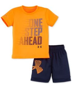 Under Armour Baby Boys' 2-Piece Step Ahead T-Shirt & Shorts Set