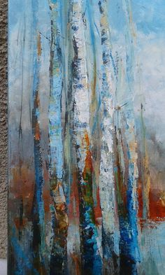 """Excellent """"abstract art paintings techniques"""" info is available on our internet site. Abstract Tree Painting, Forest Painting, Acrylic Painting Canvas, Canvas Art, Abstract Trees, Abstract Art, Oil Painting Trees, Acrylic Art, Tree Story"""