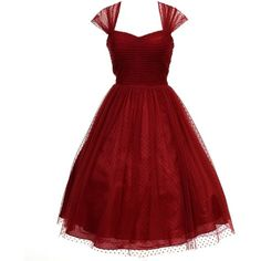 Unique Vintage Burgundy Swiss Dot Garden State Mesh Cocktail Dress (2 965 UAH) ❤ liked on Polyvore featuring dresses, short dresses, red valentines day dress, homecoming dresses, burgundy dress, red dress and mesh dress