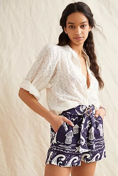 New Clothing for Women | Anthropologie Dressy Shorts, Women's Shorts, Linen Shorts, Vintage Lace, New Outfits, Lace Skirt, Vintage Outfits, Feminine, Skinny Jeans