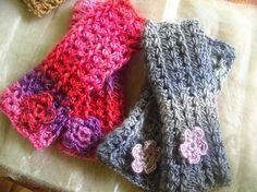 FATIMA CROCHET: wrist warmers crocheted wrist warmers