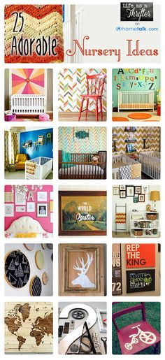 25 Adorable {DIY Nursery} Ideas | curated by 'Life as a Thrifter' blog!
