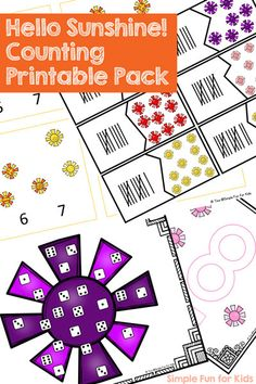 Hello Sunshine! Counting Printable Pack