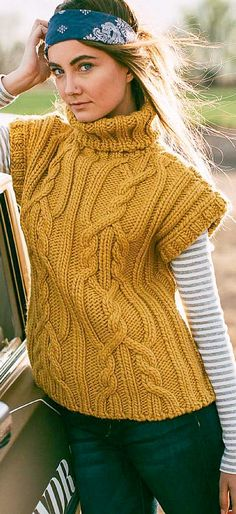 Knitting Stitches, Knitting Patterns Free, Free Pattern, Ropa Upcycling, Knit Crochet, Upcycle, Turtle Neck, Pullover, Chic