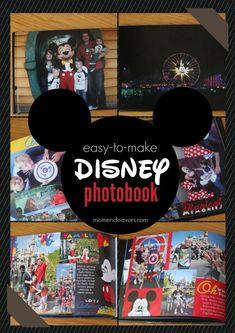 Easy-to-make Disney photo book! #disney #memorykeeping #snapfishblogger
