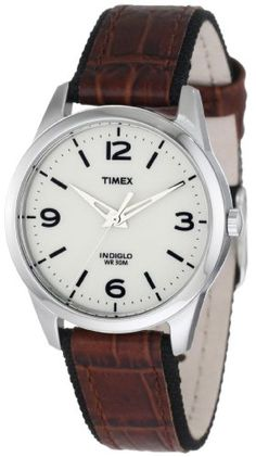 Timex Women's Weekender Casual Brown Leather Strap Watch, $32.59