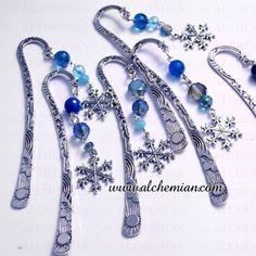 Segnalibro in argento tibetano con cristalli, pietre e fiocco di neve ,1 pz
