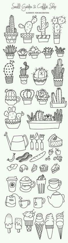 Imagem de doodle, cactus, and drawing