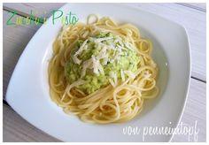 Penne im Topf: Zucchini - Pesto