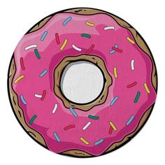 Round Towel Co. Donut Round Beach Towel (€48) ❤ liked on Polyvore featuring home, bed & bath, bath, beach towels, pink, pink beach towel, round beach towel, cotton beach towels and circular beach towel