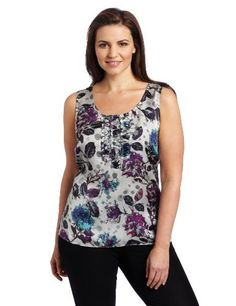 AK Anne Klein Women's Plus Size Leaf Floral Sleeveless Blouse Anne Klein. $27.89. Made in China. Floral detail. Dry Clean Only. polyester. Sleeveless blouse