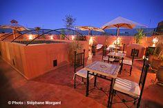 Terrasse nuit - Riad Chafia - Marrakech