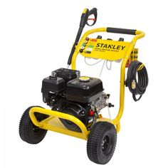 Stanley 2900PSI Petrol Pressure Washer, 2 Year Warranty. The Stanley 4 Stroke 5.5HP 2900PSI Petrol Pressure Washer is ideal for cleaning your concrete driveway, paved areas, car, motorbike, truck, walls or garden features. It includes a convenient 10m long heavy-duty hose, 5 interchangeable nozzles and twin 800ml detergent bottles which can use the same or different detergents in each. This pressure washer is the perfect tool for any tradie or handyman wanting to make cleaning outdoors… Detergent Bottles, Pressure Washers, Concrete Driveways, Garden Features, Stained Concrete, Water Flow, Brickwork, Mold And Mildew, Outdoor Power Equipment
