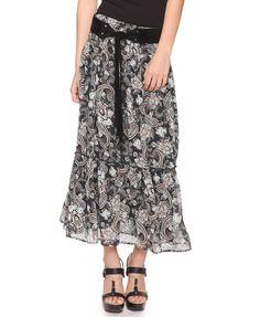 Flora Paisley Prairie Skirt