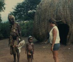 "Zulu Viliage, Natal ""Valley of a thousand hills"" 1967."