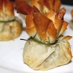 Goat Cheese and Chive Filo Bites