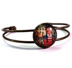 Frida Cuff Bracelet, by Mary Ann Farley, via Etsy, $16.00