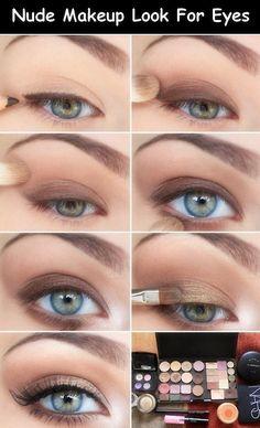 Nude Makeup Look For Eyes http://www.blog.oomi.co/