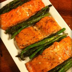 Honey glazed Salmon, makes for a perfect healthy dinner. Family Favorite!!
