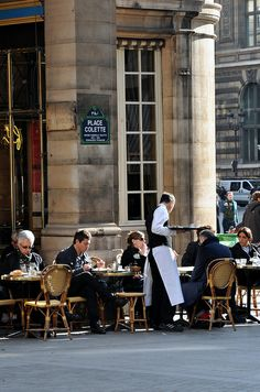Place Colette, Paris 1. I love places like this, sip your coffee, maybe a pastry and watch the world go by...bliss