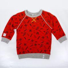 Washi tape print sweatshirt for kiddos