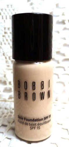 BOBBI BROWN SKIN FOUNDATION - SPF 15 - WARM IVORY 1 - .5 fl.oz. - NEW #BobbiBrown
