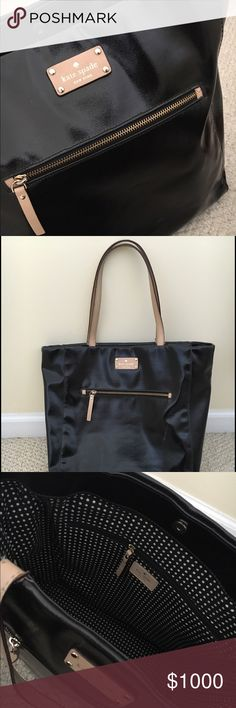 GIVEAWAY!! 🛍🎀🛍🎀 KATE SPADE BLACK TOTE! I will be choosing a winner next week 9/2 to enter like this item and share 5 items in my closet! The more items you share the better your chances are! Good luck everyone 💕 kate spade Bags Shoulder Bags