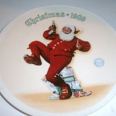 Norman Rockwell Christmas 1989 Santa Claus by heritagegeneralstore, $9.99