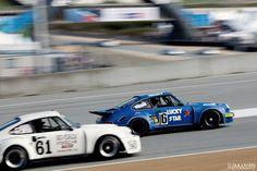 Racing Porsche 911s