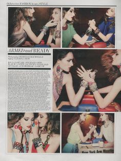 Tom Binns Design A Riot of Color large bib necklace in Interview Magazine