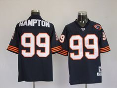 a1abd6a50 Giants Brandon Marshall 15 jersey Mitchell   Ness Bears Dan Hampton Blue  With Big Number Bear Patch Stitched Throwback NFL Jersey