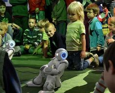 Children and Nao at Researcher´s Night 2012